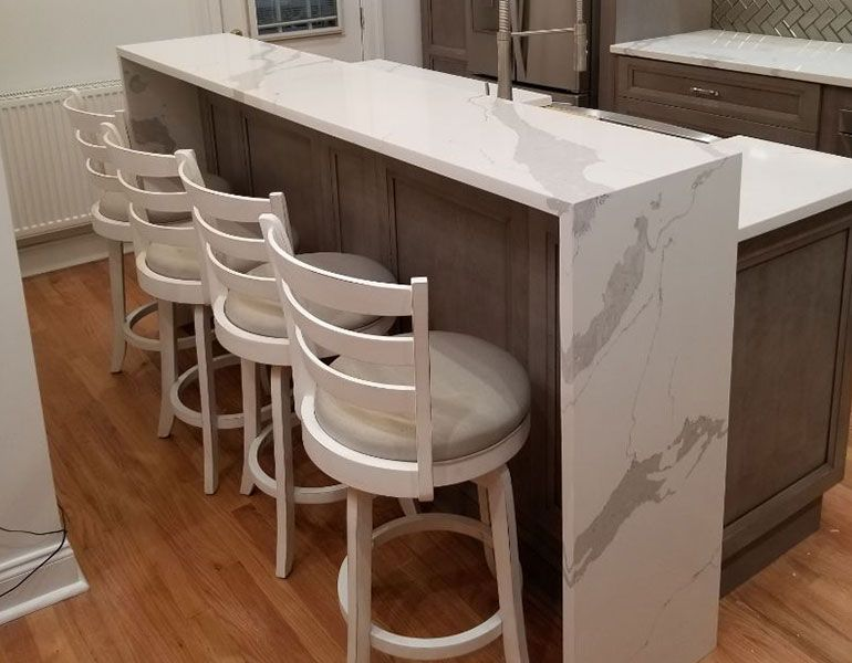 renovated kitchen counter